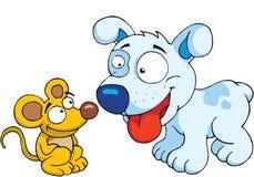 Pies i mysz ilustracja wektor