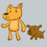 Pies i przyjaciel ilustracja wektor