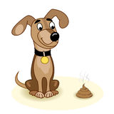 Pies i turd Zdjęcia Stock