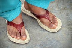 Pies indios de las mujeres Imagen de archivo libre de regalías
