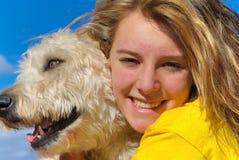 pies ja kocham mój Zdjęcie Stock