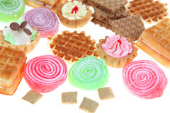 Pies, jellies and waffles Stock Photography