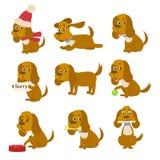 Pies jest obsługuje najlepszego przyjaciela ilustracja wektor