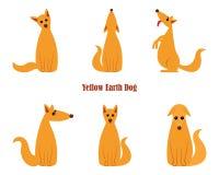 Pies jest symbolem Nowi 2018 rok, według Chińskiego roku kalendarzowego kolor żółty ziemi pies Strażowego psa Niemiecka baca w wi Zdjęcie Stock