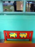 pies kota krzesło Fotografia Royalty Free