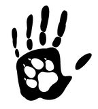 Pies - mężczyzna najlepszy przyjaciel ilustracji