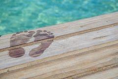 Pies mojados del Caribe Imagen de archivo libre de regalías