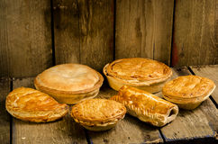 Pies, Pasties and Sausage rolls royalty free stock image
