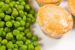 Pies and peas Stock Image