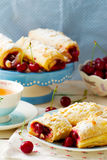 Pies from puff pastry with cherry Stock Photography