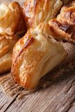Pies of puff pastry close up vertical Stock Images