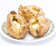 Pies of puff pastry with cream cheese Royalty Free Stock Image