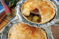Pies with rhubarb and cardamom Royalty Free Stock Images