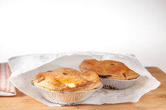 Pies served in white paper bag Royalty Free Stock Photography