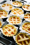 Pies shortbread. Preparing pies with pastry and jam Royalty Free Stock Images