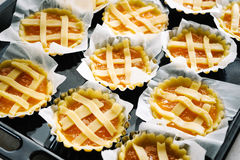 Pies shortbread. Preparing pies with pastry and jam Royalty Free Stock Photos