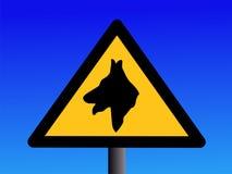 pies straży znaku ostrzeżenie Fotografia Stock
