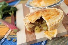 Pies stuffed with rhubarb and cardamom Stock Photo