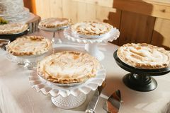 Pies on a table Royalty Free Stock Image