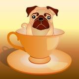 Pies w filiżance Zdjęcie Royalty Free
