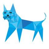 Pies w poligonalnym stylu z błyskotliwością Zdjęcia Royalty Free