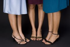 Pies y zapatos Foto de archivo libre de regalías