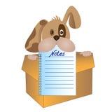 Pies z notepad stroną royalty ilustracja