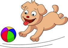 Pies z piłką ilustracja wektor