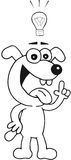 Pies Z pomysłem Obrazy Stock