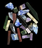 Pieses of semiprecious gems Stock Image