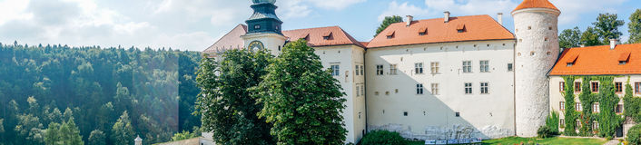 Pieskowa Skala城堡 图库摄影