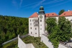 PIESKOWA SKALA,波兰- 2018年5月01日:城堡Pieskowa Skala nea 库存图片