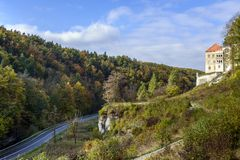 Pieskowa Skala Castle Royalty Free Stock Photography