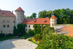 Pieskowa Skala castle Royalty Free Stock Image