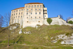 Pieskowa Skala castle near Krakow Stock Photo
