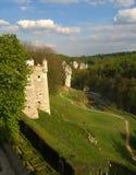 Pieskowa Skala slott royaltyfri bild