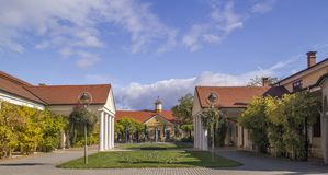 Piestany, Slovakia- Historical building on spa island of Piestan Stock Photo