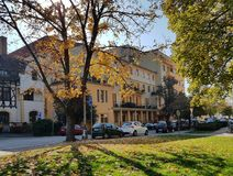 Piestany, Slovakia- Sunny Autumn Day in city street Stock Images