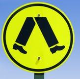 pieszy znak Zdjęcia Stock
