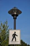 pieszy znak Zdjęcie Royalty Free