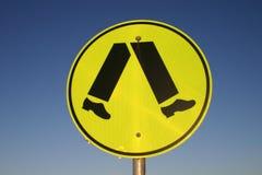 pieszy znak Obraz Stock