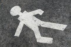 pieszy znaka strefa zdjęcie royalty free