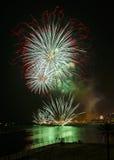 Pietà 2013 dei fuochi d'artificio a Barcellona Immagini Stock
