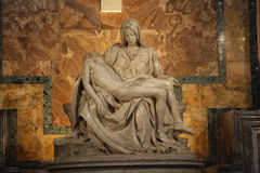Pietà of Michelangelo Stock Image