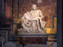 Pieta av Michelangelo Arkivbild