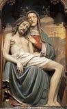 Pieta die - van de kerk van Wenen snijdt stock afbeelding