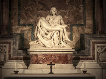 Pieta marble sculpture in St. Peter's Basilica in Vatican Royalty Free Stock Image