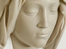 Michelangelo, Face of the Virgin Mary, Vatican Cit stock photography