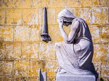 Pieta på en kubansk kyrkogård Royaltyfri Foto