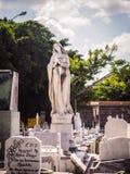 Pieta på en kubansk kyrkogård Arkivfoto